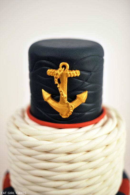Nautical Cake by Fat Girl Cakes | TheCakeBlog.com