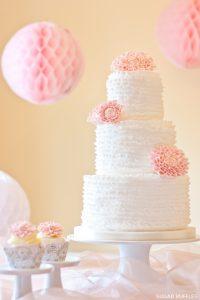 Ruffles & Dahlias Cake