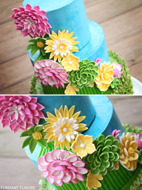 Welcoming spring flowers bright spring flowers by fondant flinger thecakeblog mightylinksfo