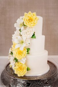 Soft Yellow and Creamy White Florals