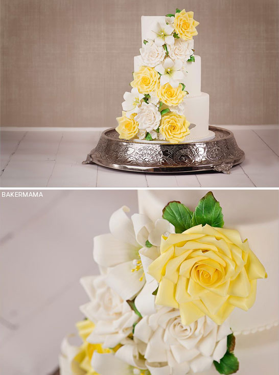 Summer Sugar Flowers by Bakermama  |  TheCakeBlog.com
