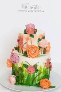 DIY Watercolor Cake Tutorial by Miso Bakes  |  TheCakeBlog.com