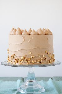 Banana Choco Hazelnut Cake | by Tessa Huff for TheCakeBlog.com