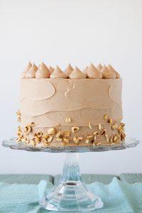 Banana Choco Hazelnut Cake | by Tessa Huff for TheCakeBlog.com
