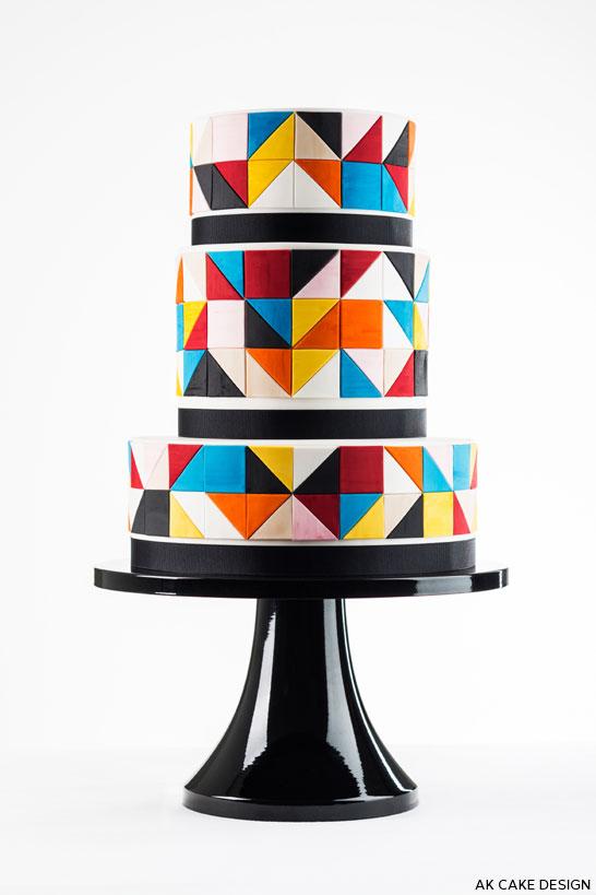 Color Block Cake by AK Cake Design | TheCakeBlog.com