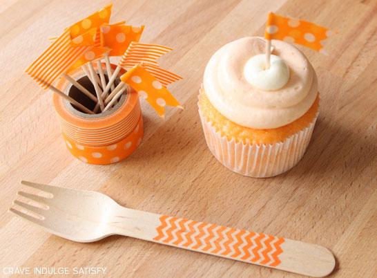 Creamsicle Cupcake Recipe by Lauren Kapeluck   |  TheCakeBlog.com
