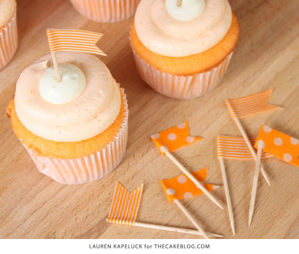 Creamsicle Cupcake Recipe | by Lauren Kapeluck for TheCakeBlog.com