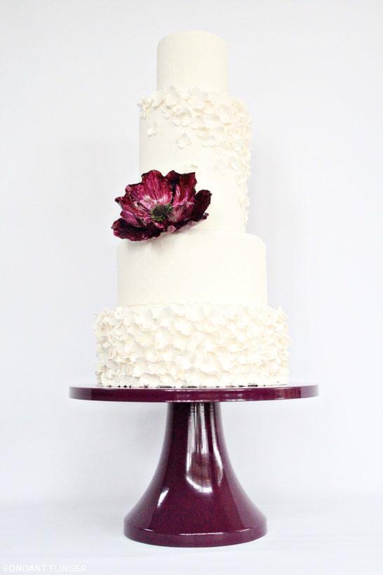 Purple Anemone Cake by Fondant Flinger  |  TheCakeBlog.com