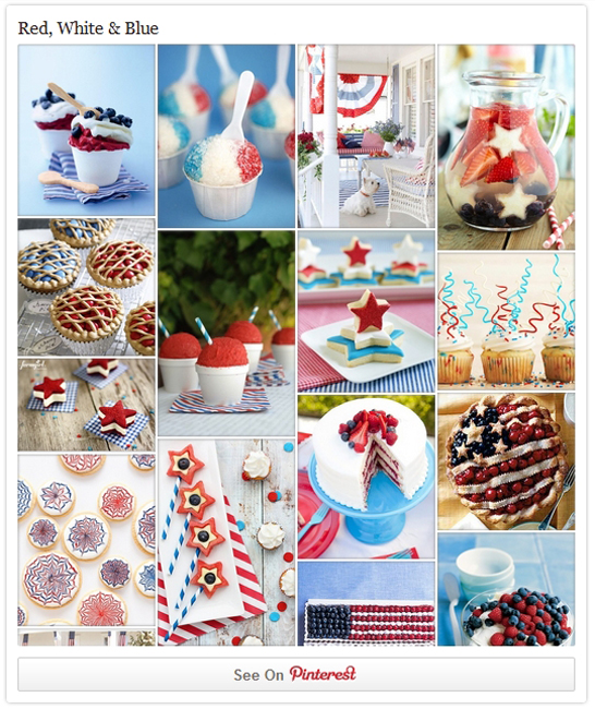 Red, White & Blue Dessert Inspiration on Pinterest