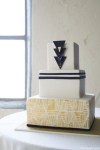 rt Deco Wedding Cake by The Bake Boutique  |  TheCakeBlog.com
