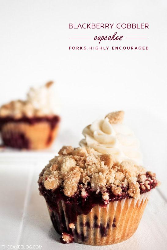 Blackberry Cobbler Cupcakes  |  TheCakeBlog.com