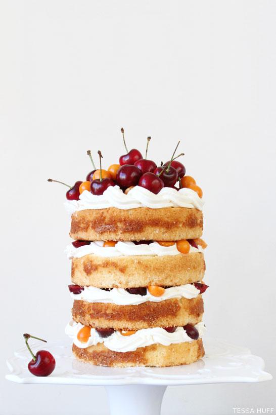 Fresh Cherry Cake | by Tessa Huff | TheCakeBlog.com