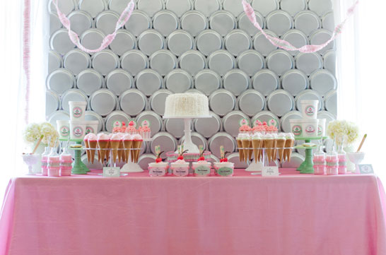 Ice Cream Party | styled by Deliciously Darling | TheCakeBlog.com