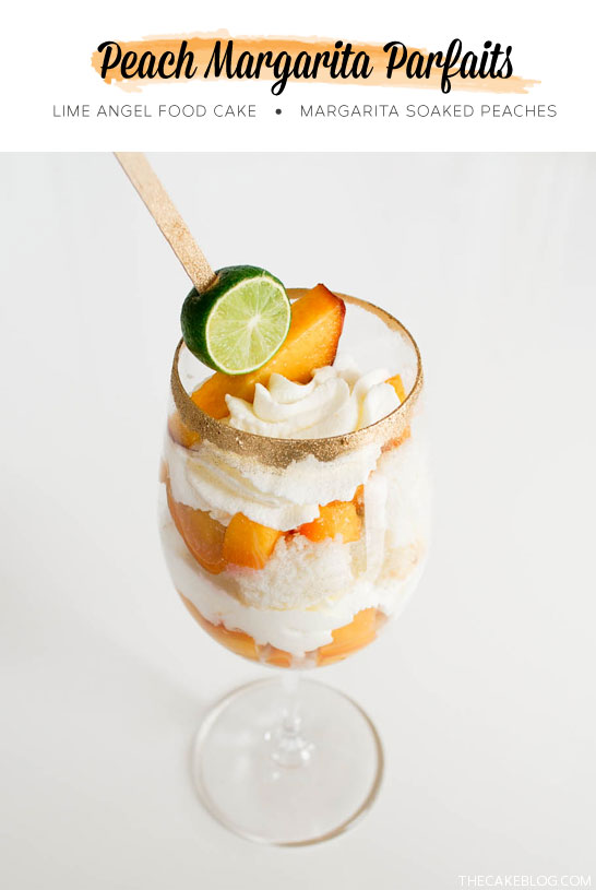 Peach Margarita Parfait Recipe  |  TheCakeBlog.com
