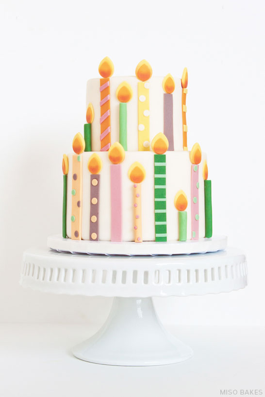 Image Of Birthday Cake With One Candle : Birthday cake with candles   cbru