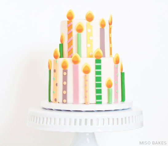 DIY Birthday Candles Cake