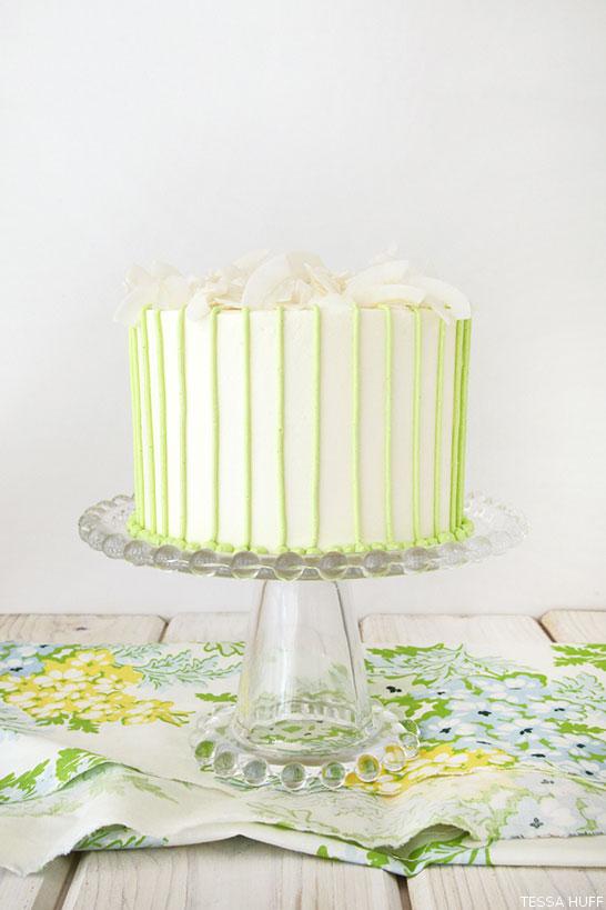 Coconut Lime Cake by Tessa Huff  |  TheCakeBlog.com