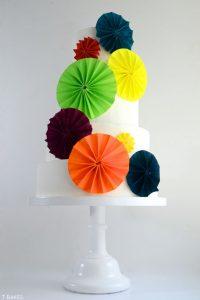 Vibrant Pinwheel Cake
