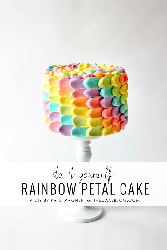Easy Rainbow Cake Decoration : DIY Rainbow Petal Cake