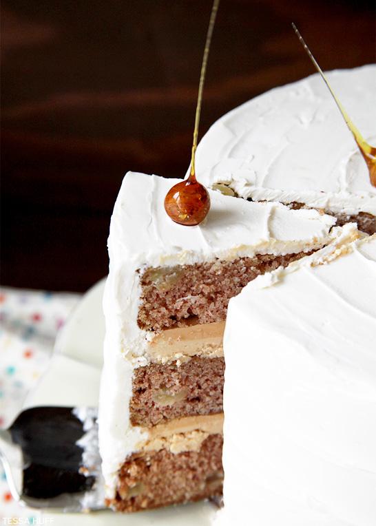 Apple Spice Cake Recipe   by Tessa Huff   TheCakeBlog.com