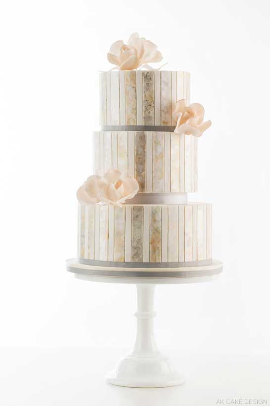 Metallic Watercolor Cake  |  by AK Cake Design  |  TheCakeBlog.com