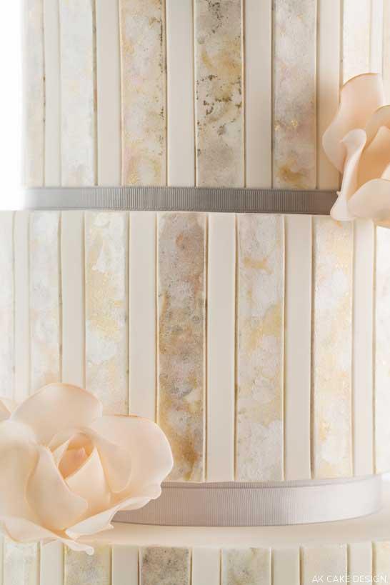 Metallic Watercolor Cake  |  by AK Cake Design  |  TheCakeBlog.com