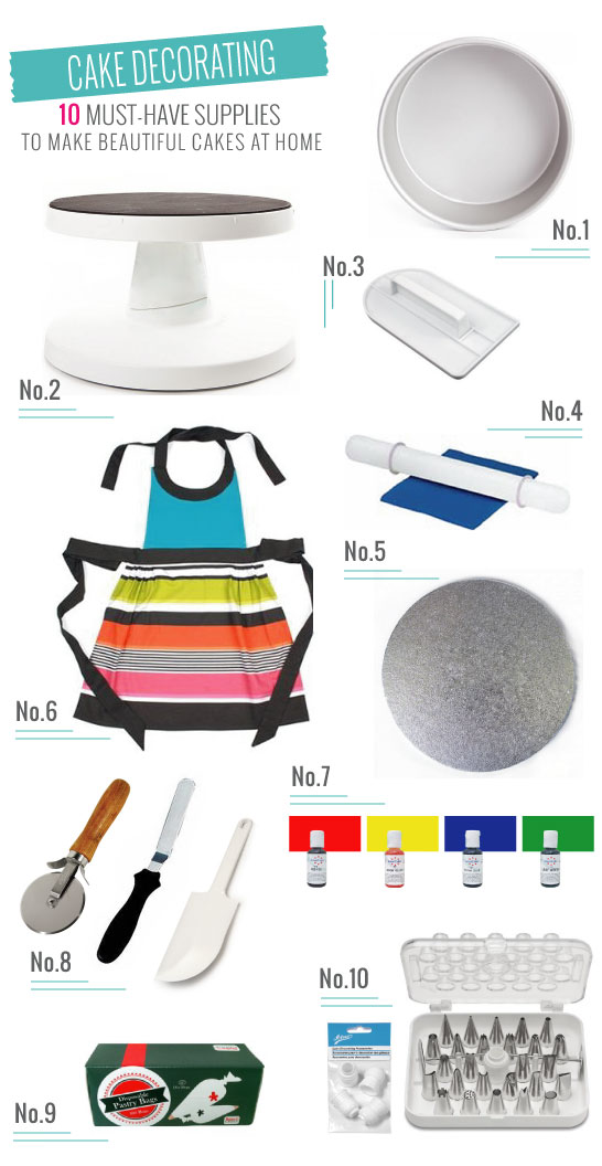 Must Have Cake Supplies  |  Create Beautiful Cakes at Home  |  TheCakeBlog.com