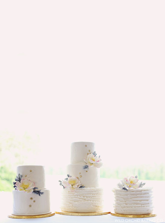 Rustic Ruffle & Stars Cake  |  by Wild Orchid Baking Co  |  TheCakeBlog.com
