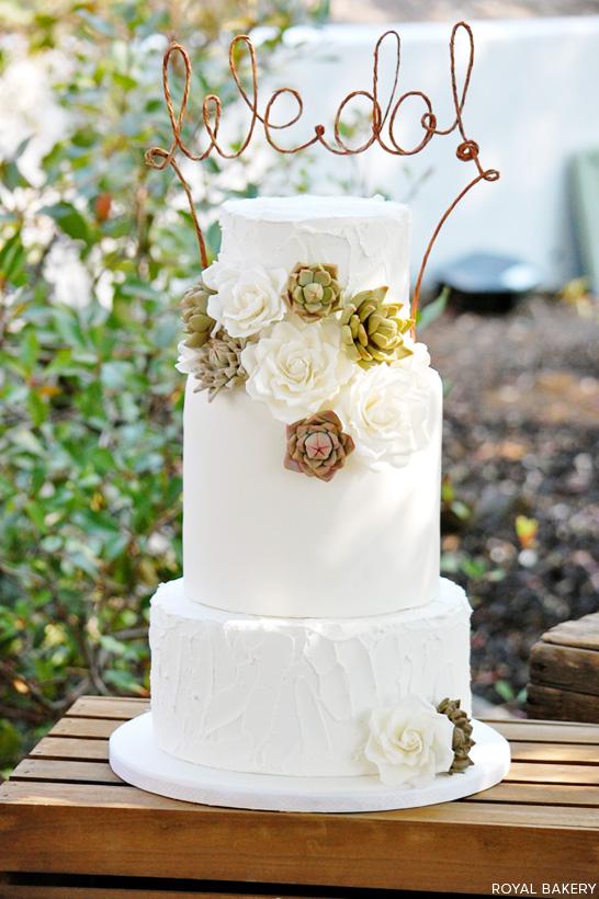 Succulent Wedding Cake The Cake Blog
