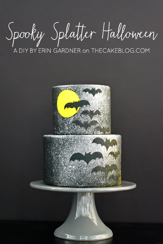 Spooky Splatter Halloween Cake  |  A DIY by Erin Gardner  |  TheCakeBlog.com