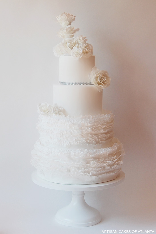 White on White Frills  |  by Artisan Cakes of Atlanta  |  TheCakeBlog.com