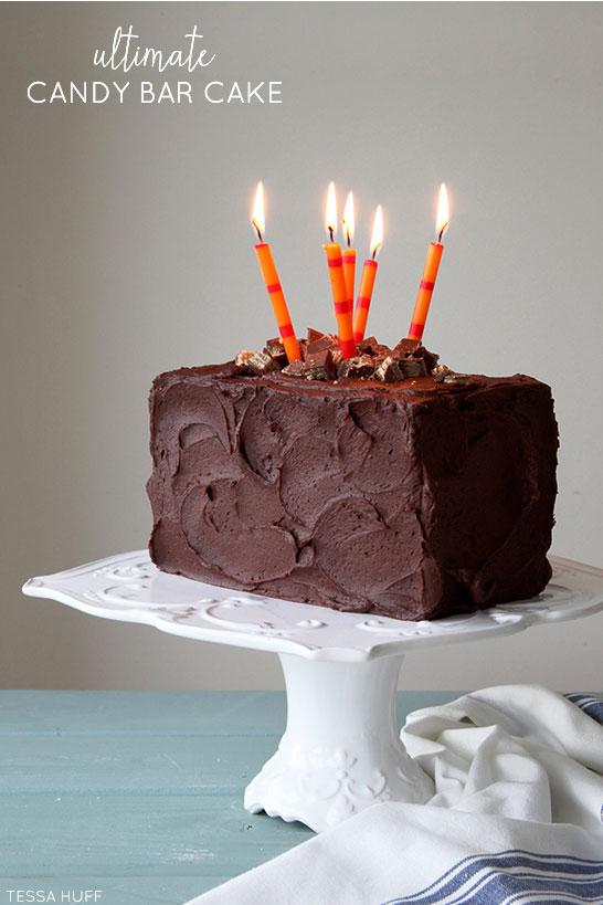 Ultimate Candy Bar Cake Recipe   by Tessa Huff   TheCakeBlog.com