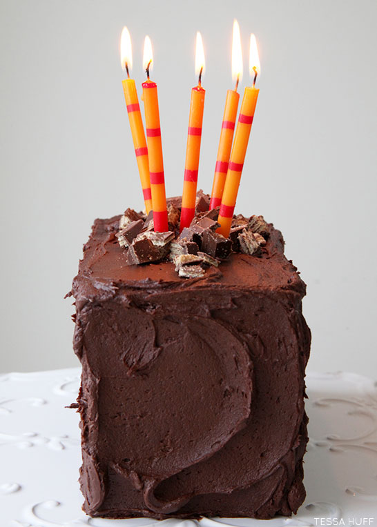 Ultimate Candy Bar Cake Recipe | by Tessa Huff | TheCakeBlog.com