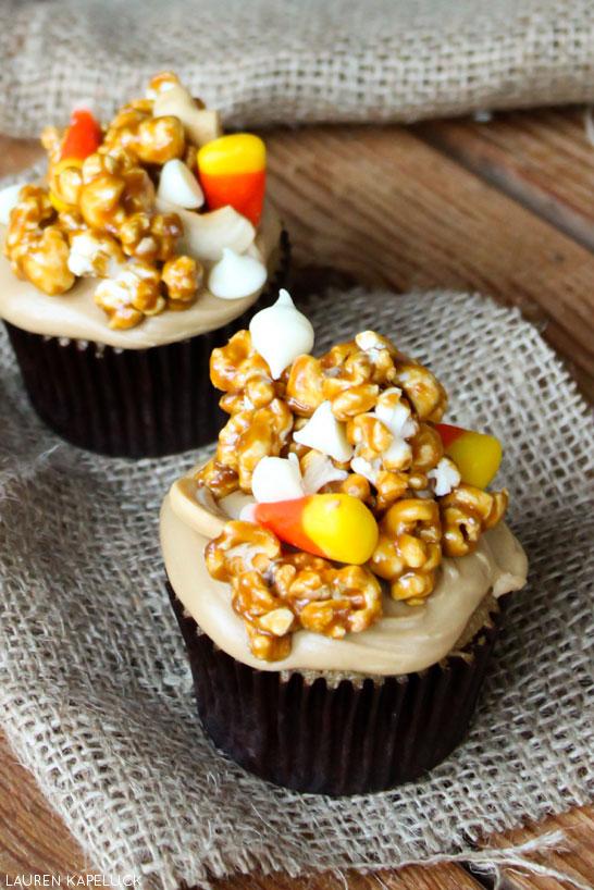 Caramel Corn Cupcake | by Lauren Kapeluck | TheCakeBlog.com