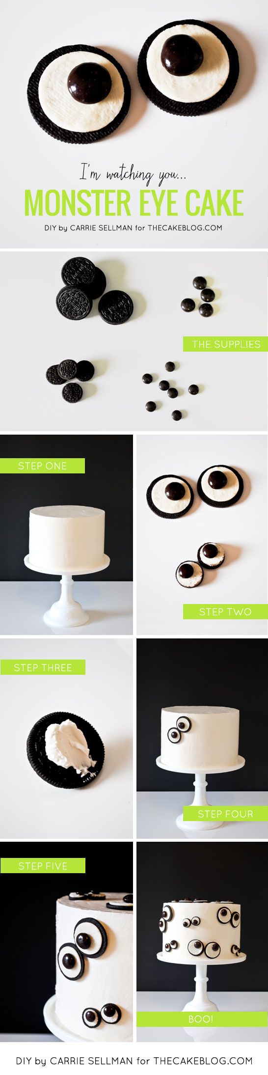DIY Monster Eye Cake  | by Carrie Sellman  |  TheCakeBlog.com