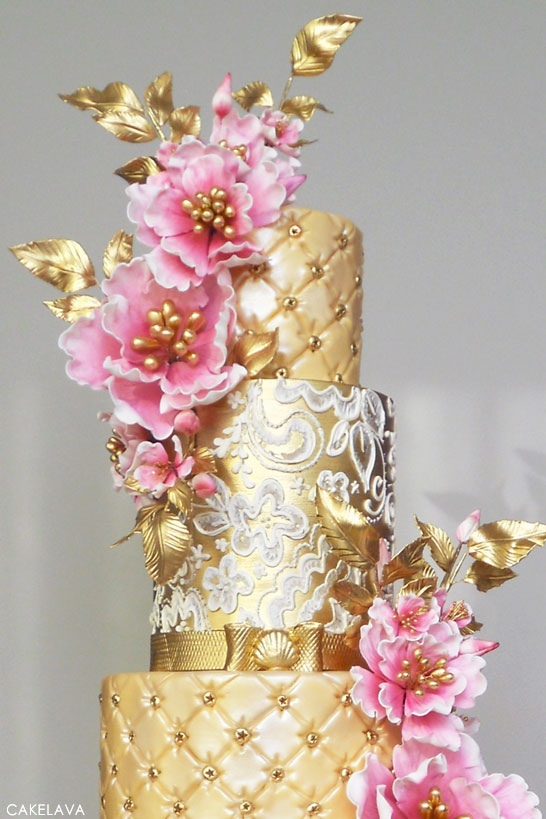 gold and pink wedding cakes pink week gold amp pink 14740