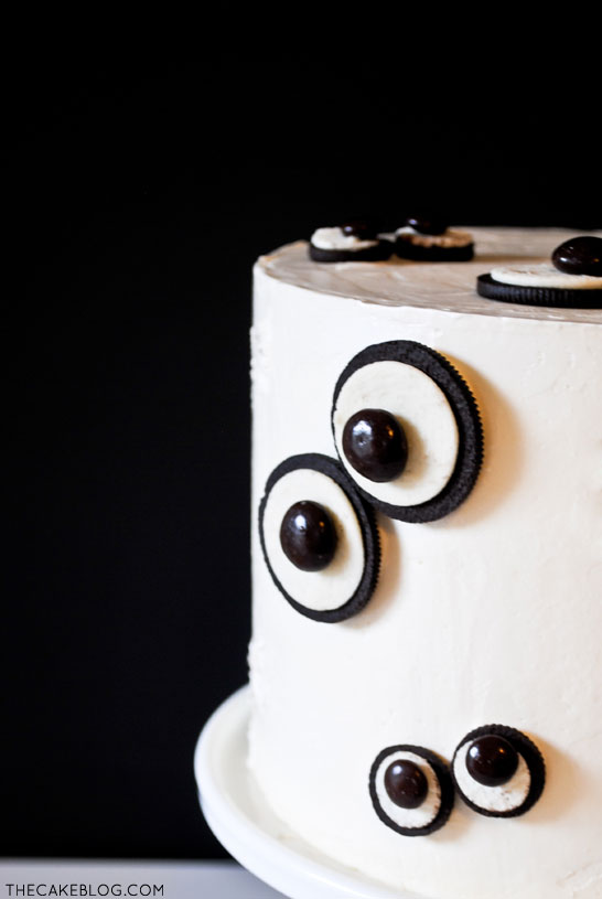 Easy Monster Eye Cake for Halloween | by Carrie Sellman for TheCakeBlog.com