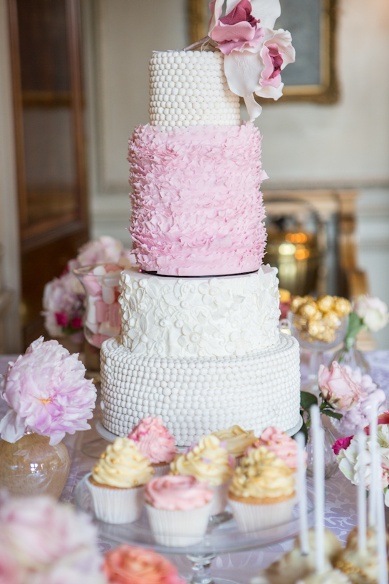 Pink & Gold Wedding Inspiration  |  by Baked In Caked Out  |  TheCakeBlog.com