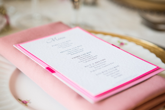 Pink & Gold Wedding Inspiration  |   TheCakeBlog.com