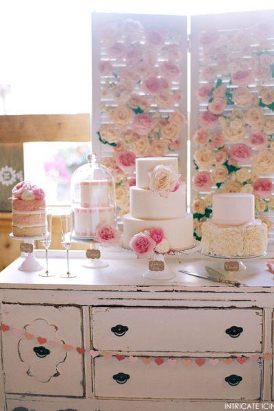 Pink Week: Vintage Rose Cake Table