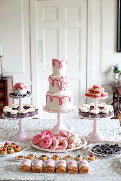 Pink Week : Pink Ribbon Dessert Diplay