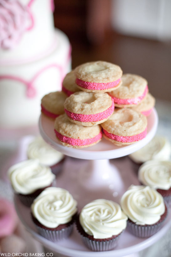 Victorian Cake Display   by Wild Orchid Baking Co   #PinkWeek on TheCakeBlog.com