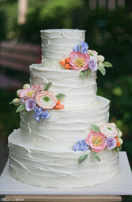Rustic Wedding Cake | by Erica O'Brien | TheCakeBlog.com