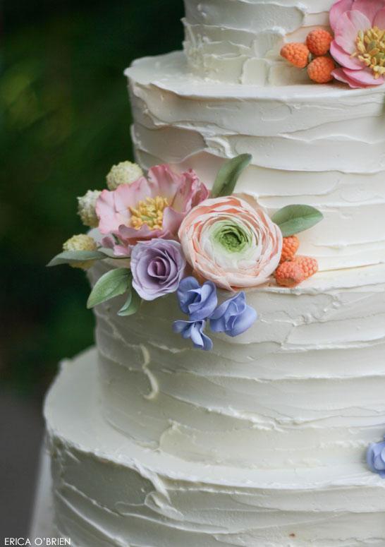 Rustic Wedding Cake | by Erica O'Brien | TheCakeBlog.com