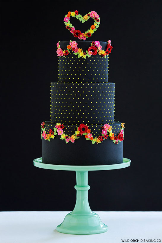 Pretty Black Cake | by Wild Orchid Baking Co | TheCakeBlog.com