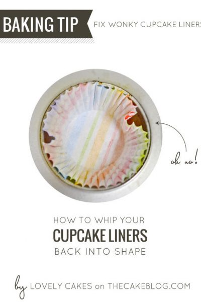 How To Reshape Cupcake Liners