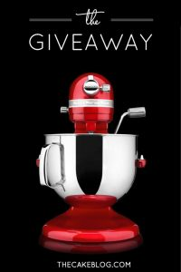 7qt KitchenAid Pro Line Mixer Giveaway |   Enter to win on The Cake Blog