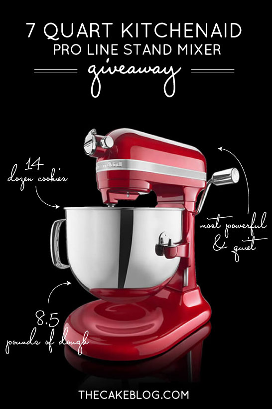 7qt Kitchenaid Pro Line Mixer Giveaway Enter To Win On The Cake Blog