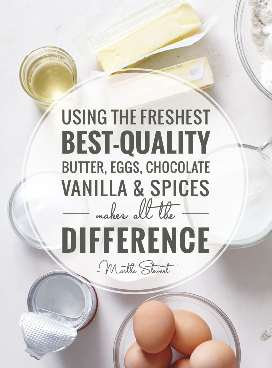 Choose Ingredients Wisely | Talking Cakes with Martha Stewart | TheCakeBlog.com