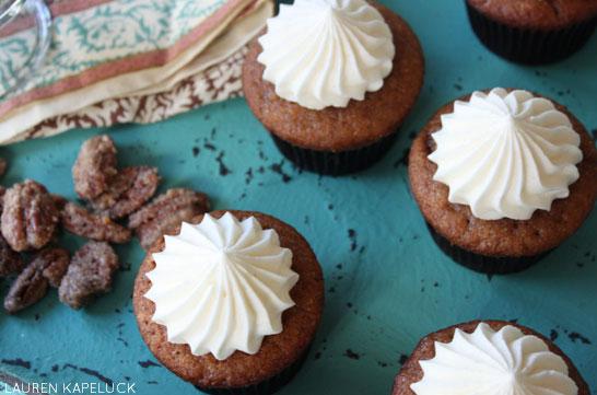 Sweet Potato Cupcakes with Marshmallow Buttercream | by Lauren Kapeluck | TheCakeBlog.com